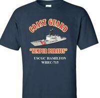 USCGC HAMILTON WHEC-715 *COAST GUARD  VINYL PRINT SHIRT/SWEAT