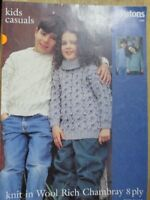 Patons knitting Leaflet no. L418 Children's Jumpers 8 ply
