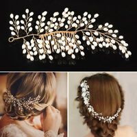 Women Hair Comb Beads Pearl Decor Wedding Party Updo Alloy Hair Accessories DIY