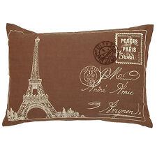Clayre & Eef Kissen mit Füllung Vintage Paris 50cm x 35cm Shabby Braun Eifelturm