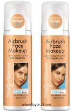 2 Sally Hansen Airbrush Lightweight Face Makeup Foundation Warm Beige 220 1 oz