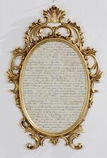 Bilderrahmen Barock Gold Oval Antik mit Glas 43x27 Bilderrahmen Fotorahmen C531