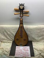 Vintage 1974 4 String Chinese Soprano Pipa Dunhuang Musical Instrument Guitar