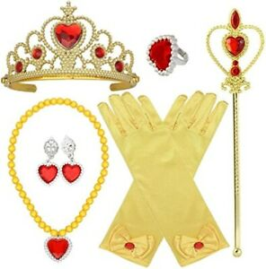 Queen Princess Belle Dress up Costume Party Accessories Gift set For Kids Girls