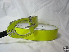 GUESS womens yellow belt with G buckle SIZE LARGE new nwt