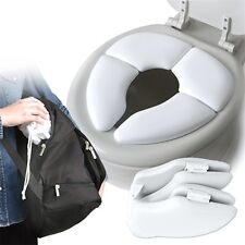 Kids Baby Toddler Travel Folding Padded Potty Seat Cushion Toilet Training AG&