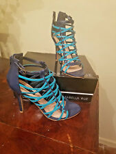 Izabella Rue, Blue and Turquoise Strappy heels