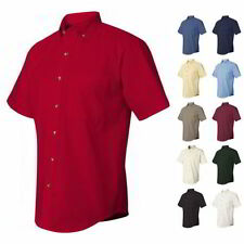 Button-Front Short Sleeve Regular XL Casual Shirts for Men