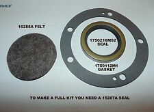 CONTINENTAL ENGINE TE20, TO20 REAR CRANK SEAL & GASKET + FRONT FELT