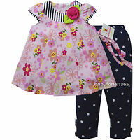 NWT Carters Baby Girls 3 pcs Shirt legging Headband Outfits Size 12 18 24 months