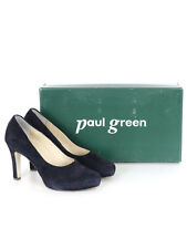 Paul Green Womens Navy Suede Leather Sole Mid Heel Court Shoe Size 4