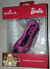 Barbie Glitter Pink Peeptoe Heel Christmas Hallmark Ornament 2017 Collector Rare