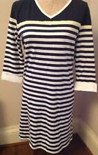 Alice Collins 42 Knots Nautical Blue White Stripe Dress new with tag size 10