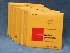KODAK WRATTEN 4X4 FILTERS - SECOND HAND, INSPECTED,YOUR CHOICE $16.99 FREE SHIP