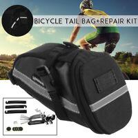 16 in 1 Bike Repair Tool Kit Bag Bicycle Saddle Tail Rear Carrier Bag Pannier *