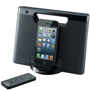 Sony RDP-M7IPN Lightning Connector iPhone/iPod Portable Speaker Dock - Black