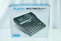 Alesis MultiMix FX 8 Channel Mixer w/ Effects / USB Audio Interface_US STOCK