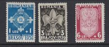 ROMANIA : 1936 2nd Boy Scout Jamboree set SG 1337-9 MNH