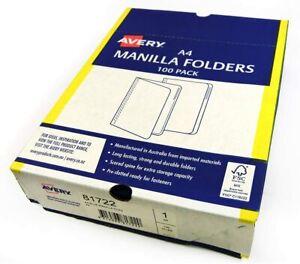 Quality Avery A4 Manila Folder Files Buff 15 Pack Australian Made