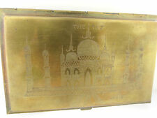 BENCAL ETCHED SCENIC TajMahal CIGARETTE CASE INDIA MAP OF HIMALYA  MTS