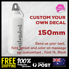 Custom Personalised Water Tumblr Bottle Name Vinyl Decal Sticker 150mm
