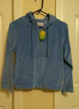 Girl's New w/Tag Blue Ferreira Tennis Jacket with Hood Size-X-Large (16)
