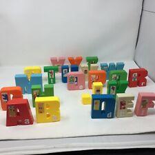 Lot of 22 Plastic Alphabet Letters Jim Henson Sesame Street Tyco Polyfect