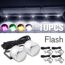 10pcs White Eagle Eye LED Daytime Running Car DRL Strobe Lamp Backup Rock Light