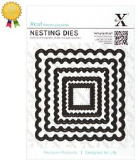 Xcut Metal Nesting Dies *SCALLOPED SQUARE* 5 Piece - by DoCrafts - Die Cutting