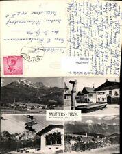 567680,Mehrbild Ak Mutters b. Innsbruck Brunnen Seilbahn
