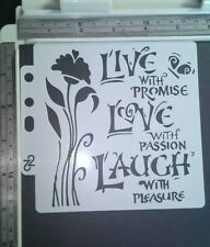 Live Love Laugh Stencil Scrapbooking Cardmaking Airbrush Painting Home Decor Art