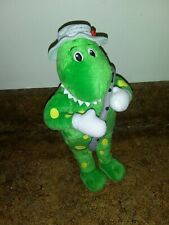 "The Wiggles Dorothy the Dinosaur 10"" Plush Doll with Flute and Flower Hat"