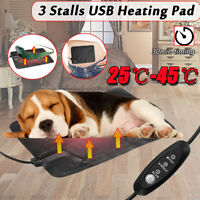 2018 Electric USB Heat Heated Pad Mat Blanket Dog Bunny Bed Cat Leather  ц
