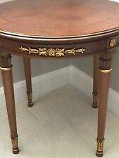 BAKER FURNITURE ROUND ITALIAN SIDE TABLE - EXCELLENT CONDITION - SOLD OUT.