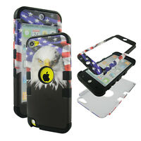 Hybrid Tuff Patriot Eagle for Apple iPod Touch 6 6th Gen Case Cover