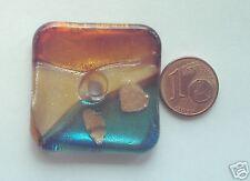 1 Pendentif carré style verre MURANO 35x35mm (MC44) DIY création Bijoux
