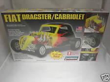 FIAT DRAGSTER CABRIOLET LINDBERG BIG 1/12 MODEL KIT NEW