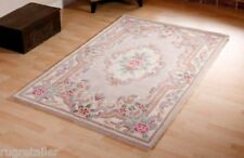 BEIGE CHINESE PREMIUM WOOL AUBUSSON HAND TUFTED RUGS 8'X5'