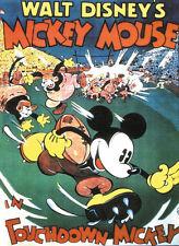 Touchdown Mickey Disney Dibujos Animados Película Cartel Póster