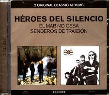 CDx2 - HEROES DEL SILENCIO - EL MAR NO CESA + SENDEROS DE TRAICIÓN (PRECINTADO)