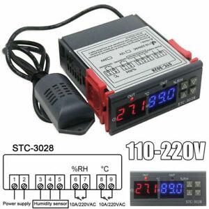 10A 220V Digitaler Temperaturregler Feuchtigkeitsregler Thermostat Instrument DE