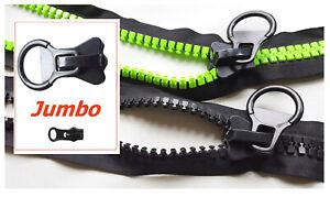 Jumbo Reißverschlüsse 14 mm für große Taschen etc. teilbar 60 70 80 90 100 120..
