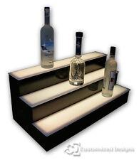 32 3 Step Tier Led Lighted Shelves Illuminated Liquor Bottle Display Free Ship