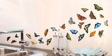 Aufkleber Sticker Fenster Wandsticker Wandaufkleber Schmetterlinge Dekor Küche