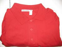 Giorgio Armani Fall Winter 1986 Collection Mens MEDIUM Red LS Polo Vintage