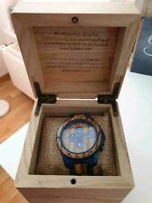 Holzkern Uhr Gareth (Zebranoholz) / Einmal getragen / Mit Rechnung und OVP