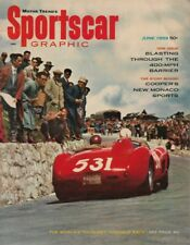 SPORTSCAR GRAPHIC 1959 JUNE - BOCAR, HAWTHORN, MICKEY & 400mph