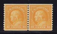 497 VF+ pair original gum never hinged with nice color ! see pic !