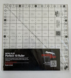 "Creative Grid Non-Slip Perfect 10 Ruler 10""X10"" Designed It's Sew Emma CGRPERF10"