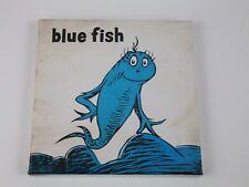 Dr Seuss Canvas Wall Art One Fish Blue 8x8 Print Nursery Rhyme Color
